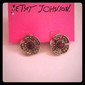 Betsey Johnson fall flower earrings